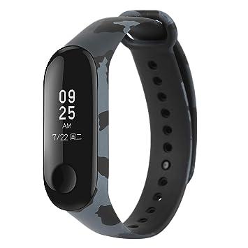 WEIHUIMEI - Correa de Repuesto para Reloj Inteligente Xiaomi Mi Band 3 (1 Unidad), Color Gray Camouflage: Amazon.es: Deportes y aire libre