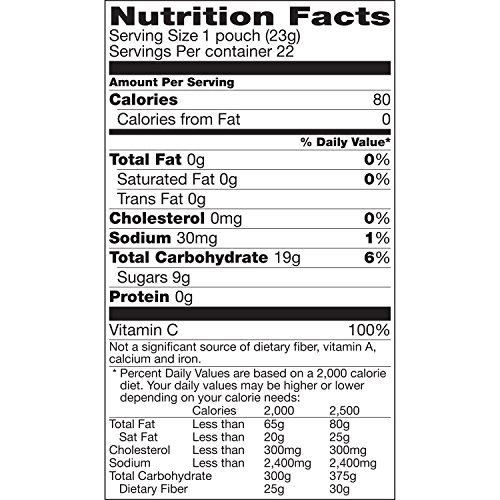 General Mills Sunkist Flavored Snacks, Mixed Fruit, 22 Co...