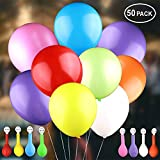 LED Light up Balloons, Leobee 50 Pack Colorful Flash Party LED Balloons Lights for Party Birthday and Wedding Decoration (Mixed-Color Balloons Colorful Lights)