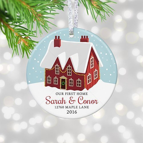 our first home ornament 2017 personalized first christmas new house gift housewarming realtor gift