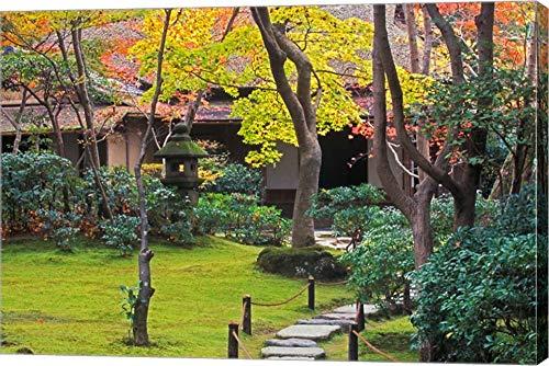 Rob Okochi Sanso Kyoto Japan - Okochi Sanso, Arashiyama, Kyoto, Japan by Rob Tilley/Danita Delimont Canvas Art Wall Picture, Gallery Wrap, 22 x 15 inches