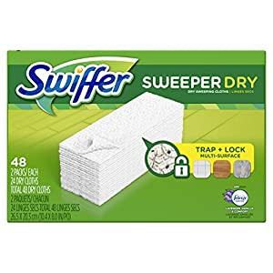 picture of Swiffer Sweeper Dry Sweeping Pad Multi Surface Refills for Dusters Floor Mop, Lavender & Vanilla Comfort, 48 Count (Packaging May Vary)