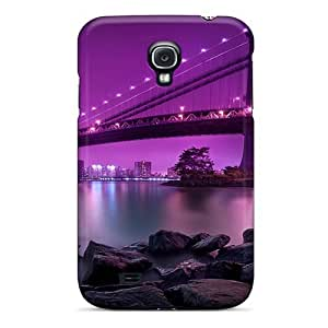 New Style LRH66 Hard Case Cover For Galaxy S4- Manhattan Bridge New York City by supermalls