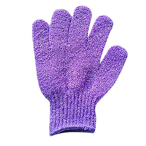 Sayingning 1 Pair Shower Gloves Wash Skin Spa Bath Gloves for Bathroom (Purple) by Sayingning (Image #1)