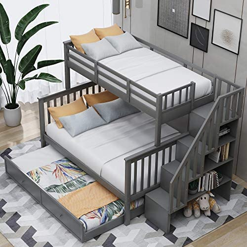 LUMISOL Twin Over Full Bunk Bed