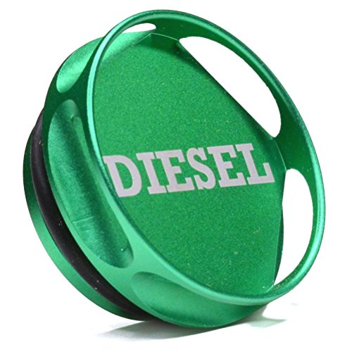 Magnetic Diesel Fuel Cap Accessory for Dodge RAM TRUCK 1500 2500 3500 (2013-2018) with 6.7 CUMMINS EcoDiesel, New Easy Grip Design, Includes 2 O-Rings
