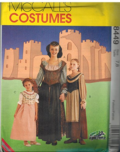8449 Uncut McCalls Sewing Pattern Girls Medieval Costume Dress Cosplay 4]()