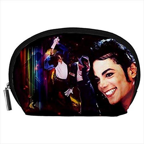 Michael Jackson Makeup (Michael Jackson Accessory Pouch Zipper Case (L))