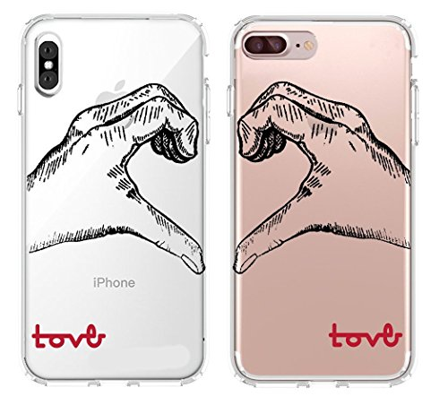 Shark Love Hand Signed Matching Couple Cases for (iPhone X &iPhone 6)