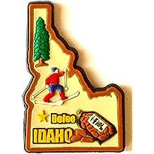 Idaho State Multi Color PVC Fridge Magnet