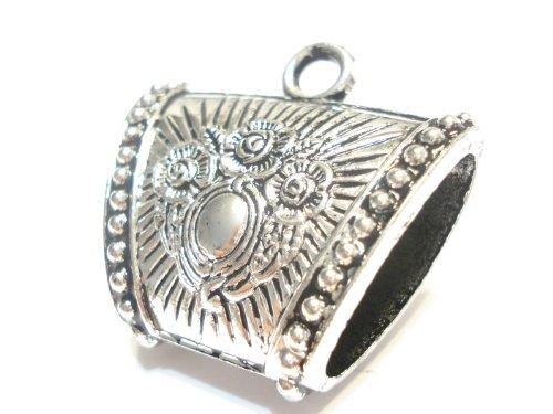 Crown Bolt Wholesale 24pcs Scarf Jewelry 40X25mm Silver P...