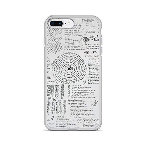 (iPhone 7 Plus/8 Plus Pure Clear Case Cases Cover Walk The Moon- Talking is Hard Lyric Sheet)