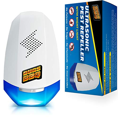 Ultrasonic Pest Repeller - Mosquito Repellent - Pest Repeller Plug in - Mouse Repellent - Roach Killer - Mosquito Repellent Indoor Outdoor - Rodent Repellent - Rat and Mice Natural Insect Repellent (Roach Insect Killer)