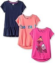 Spotted Zebra girls 3-pack Short Sleeve Tunic T-Shirt