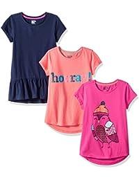 Girls' 3-Pack Short-Sleeve Tunic Tops