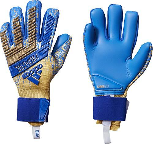 adidas Predator PRO Input Code Champions League Goalkeeper Gloves Metalic Gold/Football Blue (Predator Keeper Gloves)