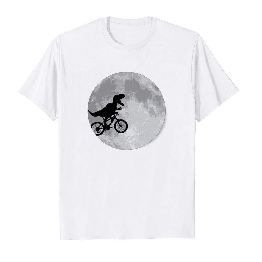 Camisetas Hombre Manga Corta Camisetas Blancas Hombre Camisetas Hombre Originales Dise/ño de impresi/ón de Dinosaurio Camisetas de Manga Corta con Estampado Casual de Primavera y Verano para Hombre
