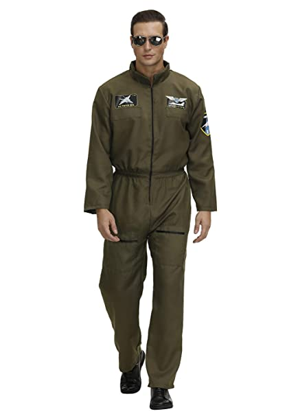 Grebrafan Military Flight Suit Pilot Costume Kids Women Men Army Jumpsuit Coveralls Matching Family Set Outfit