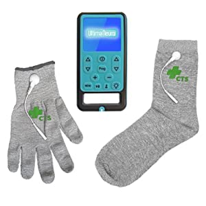 Ultima Neuro Neuropathy Treatment System for Relief of Peripheral, Diabetic & Poly Neuropathy Nerve Pain with Conductive Glove & Sock (Glove size Small)