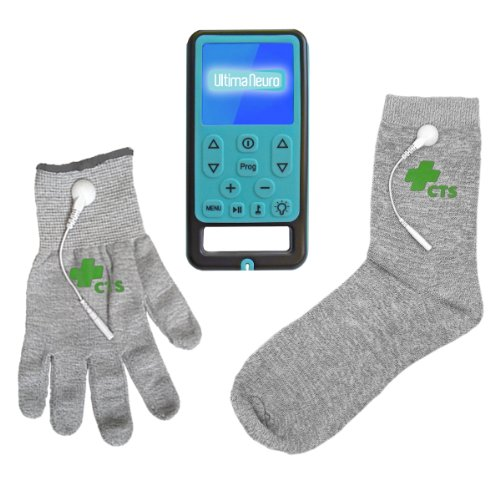Ultima Neuro Neuropathy Treatment System for Relief of Peripheral, Diabetic & Poly Neuropathy Nerve Pain with Conductive Glove & Sock (Glove size Small) by Ultima Neuro & Conductive Therapy Shop