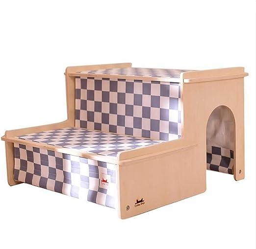 Escalera de madera para mascotas, cachorro / peluche debajo de la cama, perro pequeño, escalera de perro