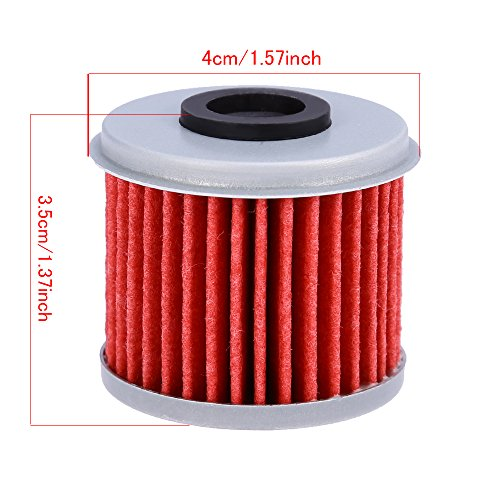 Oil Filter For ATV Honda TRX450R CRF250X CRF450X CRF250R CRF450R (Pack of 10) by QUIOSS (Image #2)