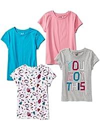 Girls' 4-Pack Short-Sleeve T-Shirts