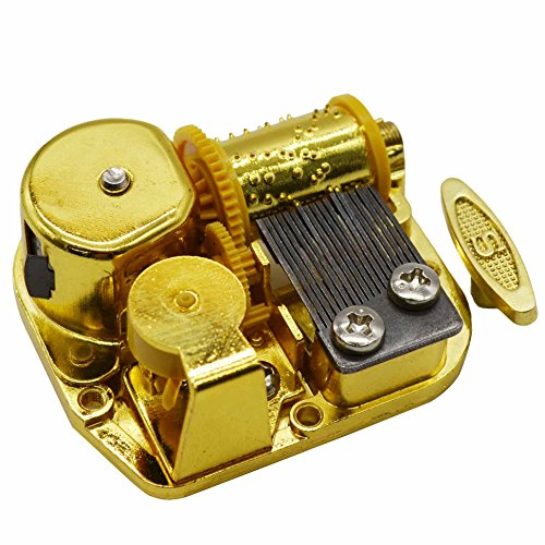 MAYMII Gold Plating 18 Note Musical Movement Music Box DIY-Different Tunes Available (Tune is You Are My (Musical Movement)