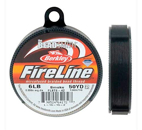 FireLine Microfused Braided Bead Thread .006 Inch Average Diameter Smoke Grey 50 Yard Roll