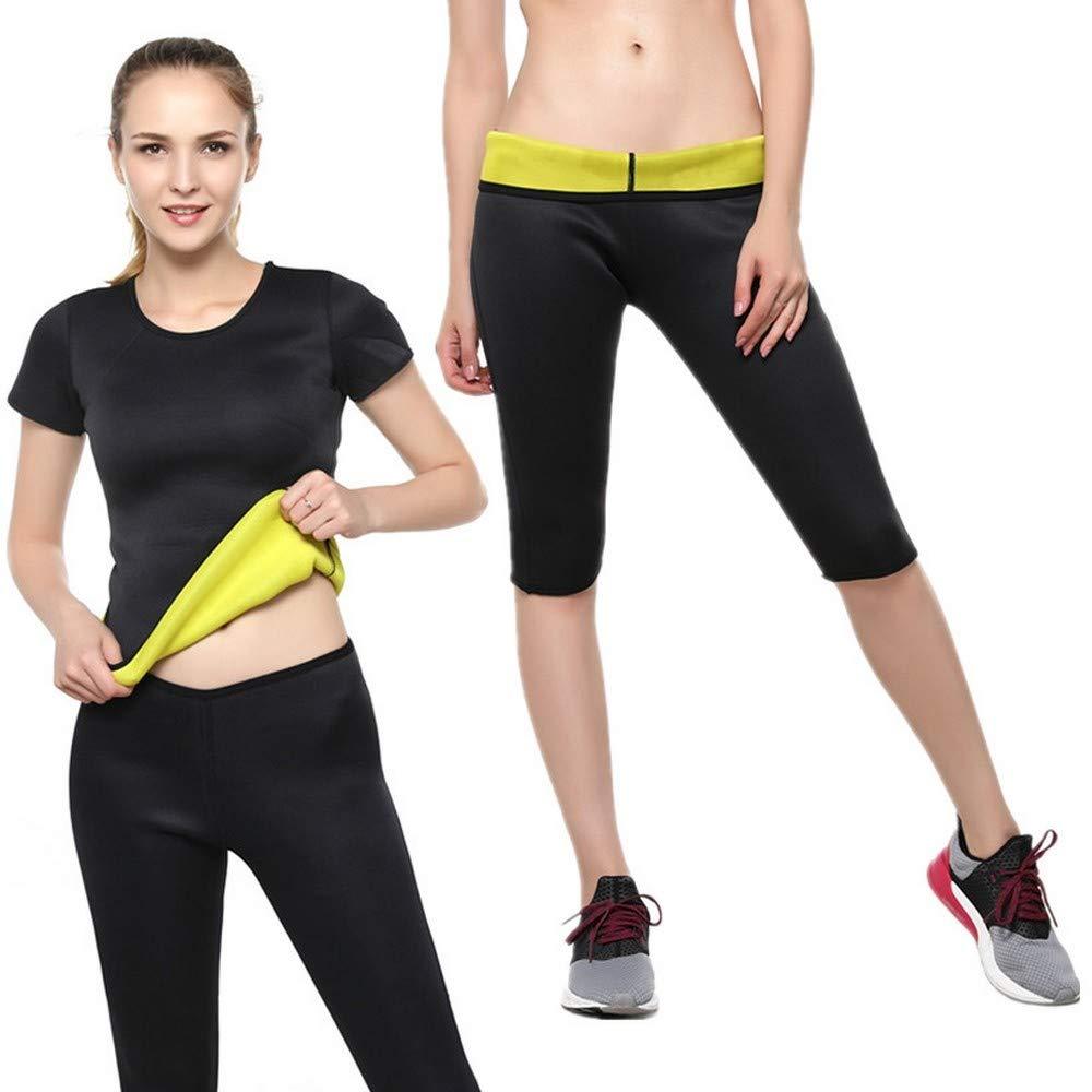 Sakj-c Yoga Set da Donna Palestra Elastico da Corsa Tuta Sportiva Abbigliamento Fitness Abbigliamento Sportivo Abbigliamento Sportivo Tshirt + Pantaloncini, S