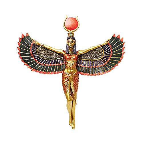 - AzureGreen Egyptian Goddess Open Wings Isis Wall Plaque