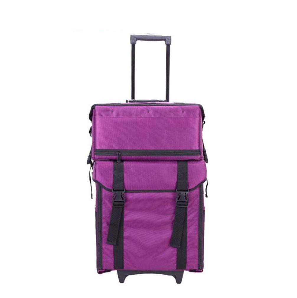 【返品不可】 BUMC Purple 1に付き2化粧トロリーケース、プロのローリング化粧品美容バッグトラベルトレインポータブルオーガナイザー多機能ボックスにホイール,Black BUMC B07NWJ6RPD B07NWJ6RPD Purple Purple, 土井志ば漬本舗:3017792d --- a-school-a-park.ca
