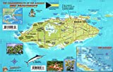 Nassau Historic Walking Tour & New Providence Island Bahamas Maps Laminated Card