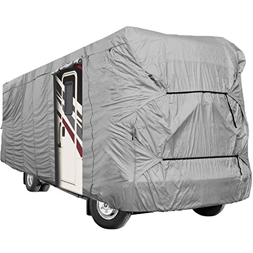Waterproof Superior RV Motorhome Fifth Wheel Cover Covers Class A B C Fits Length 20'-25' New Travel Trailer Camper Zippered Panels Allow Access To The Door, Engine And Both Side Storage Areas 5th Wheel Cover Fits