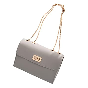 559ca5fd6f79 TITAP New Female leather Messenger Bags Luxury Handbags Women Bags Designer  2019 Ladies Shoulder Bag (Gray)  Amazon.in  Beauty