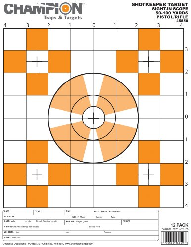 Champion Traps and Targets, Shotkeeper Sightin Scope Target, Small (Per ()