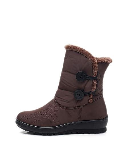retrò seleziona per il meglio nuovi arrivi Stivali da Neve Impermeabili Invernali da Donna Leggeri Antiscivolo da  Donna in Cotone Scarpe Stivaletti Calzature