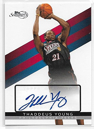 2008-09 Topps Signature Basketball Thaddeus Young Autographed Card # ()