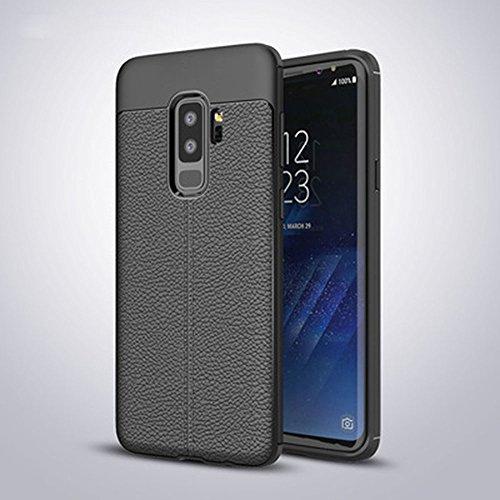 Ok Accessories Galaxy S9 Plus Funda, Cuero de Textura TPU Caso Carcasas de a Prueba de Golpes para Samsung Galaxy S9 Plus...