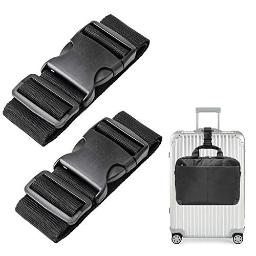 - Luxebell Add A Bag Luggage Straps, 1.96 in W x1.64 ft L, 2-Pack