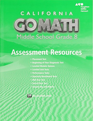 Holt McDougal Go Math! California: Assessment Resource with Answers Grade 8
