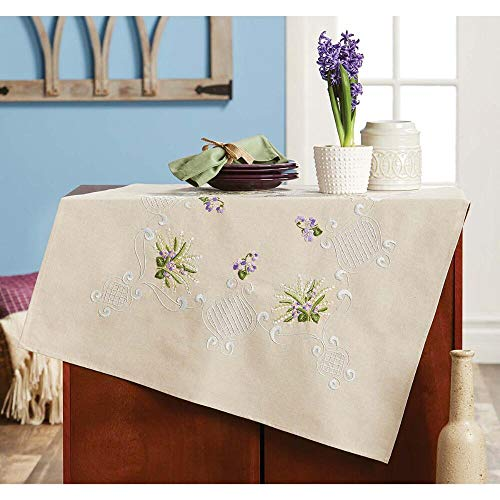 Herrschners® Lily of The Valley Table Topper Stamped Embroidery Kit ()