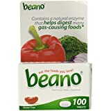 Beano Food Enzyme Dietary Supplement 100 Tabs
