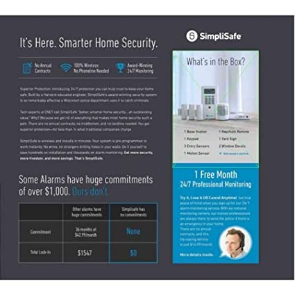 Amazon.com: simplisafe Kit de Home sistema de seguridad 7 ...
