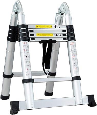 MC-BLL-ladder Engranaje de aleación de Aluminio Trapezoidal multifunción Plegables Accesorios para el hogar Escalera de Espiga de Doble Uso de ingeniería: Amazon.es: Hogar