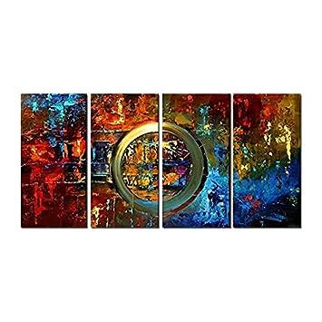 Dekor-Neue H.COZY Planet-Leinwand Modern Art Wanddeko-Ölgemälde ...