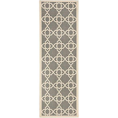 Safavieh Courtyard Collection CY6032-246 Grey and Beige Indoor/Outdoor Runner (2'3
