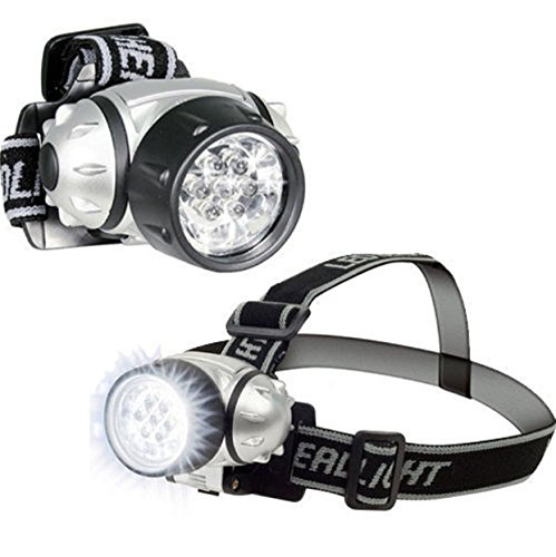 [7 LED Head Lamp Light Lumens Hat Adjustable With Pivoting Light-Head : Pack x 2] (Shot Doctor Costume)
