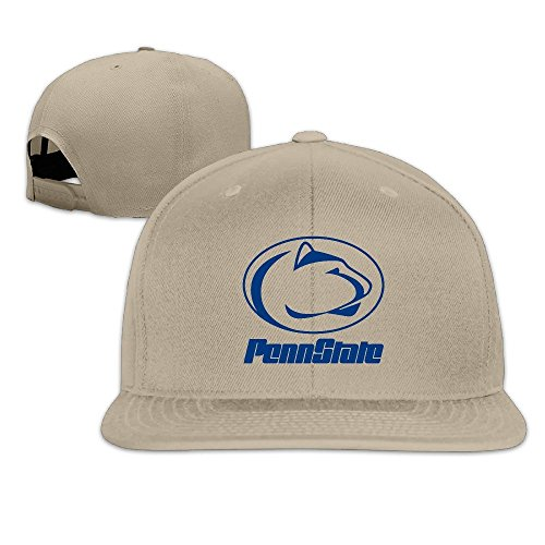 ElishaJ Adjustable Penn State University Baseball Hats Natural
