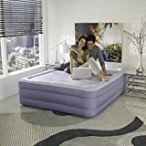 Simmons Beautyrest Fusion Aire Inflatable Air Mattress: Raised-Profile Air Bed with Internal Pump, Queen
